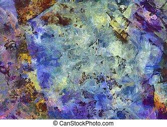 abstrakt, färgrik