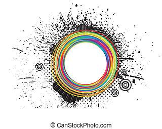 abstrakt, färgrik, grunge, plaska
