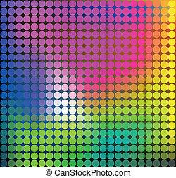 abstrakt, färgrik, mall