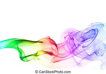 abstrakt, färgrik, röka