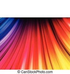 abstrakt, färgrik, vågor, på, svart fond