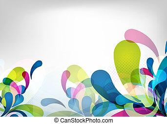 abstrakt, färgrik, vektor, bakgrund