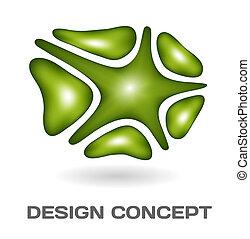 abstrakt föreställning, design
