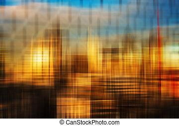 abstrakt, farverig, baggrund, slør