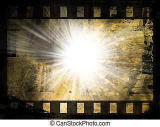 abstrakt, film, bakgrund, remsa