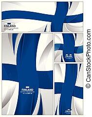 abstrakt, finnland markierungsfahne, hintergrund