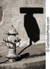 abstrakt, firehydrant