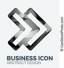 abstrakt, firma, logo