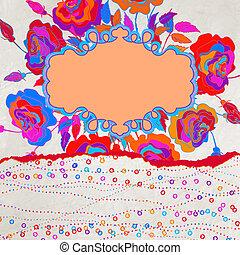 abstrakt, flora, baggrund., eps, 8