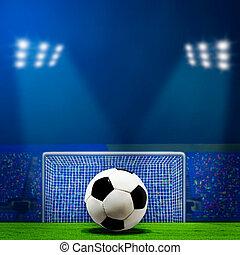 abstrakt, fodbold, eller, soccer, baggrunde