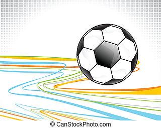 abstrakt, fotboll, bakgrund