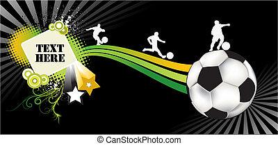 abstrakt, fotboll