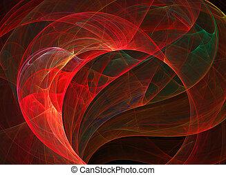 abstrakt, fractal, roter hintergrund