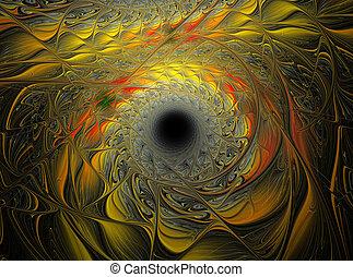 abstrakt, fractal, spirale