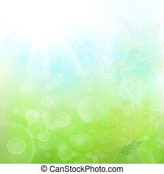 abstrakt, fruehjahr, blumen-, hintergrund
