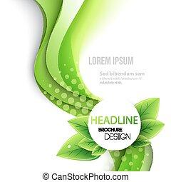 abstrakt, fruehjahr, hintergrund., schablone, broschüre, design