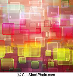abstrakt, fyrkanteer, bakgrund