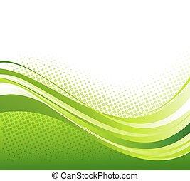 abstrakt, gebogen, linien, hintergrund., schablone, broschüre, design