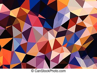 abstrakt, gefärbt, hell, sommer, hintergrund, dreieckig, geometrisch, stil