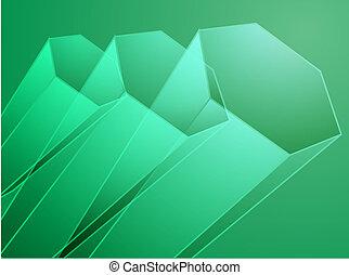 abstrakt, geometrisch, sechseck, design