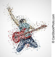abstrakt, gitarrist