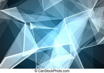 abstrakt, glødende, sort baggrund
