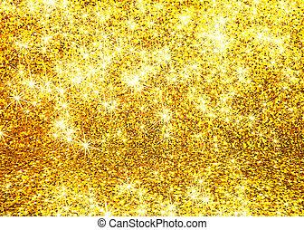 abstrakt, glitre, guld, baggrund