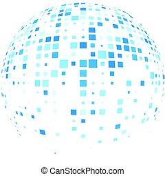 abstrakt, globala kommunikationer, runda, bakgrund.