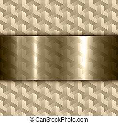 abstrakt, gold, hintergrund, 3d