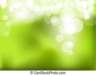 abstrakt, grön, glödande, bakgrund