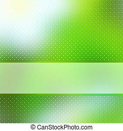 abstrakt, grøn baggrund, hos, copyspace., eps, 8