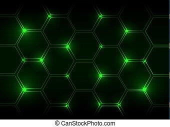 abstrakt, grønnes lys, baggrund