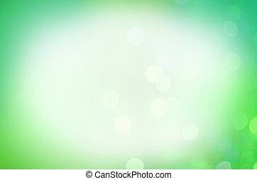abstrakt, grün, bokeh, hintergrund