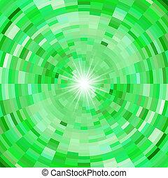 abstrakt, grün, mosaik, hintergrund