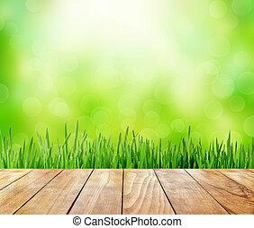 abstrakt, grün, natur, hintergrund