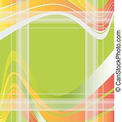 abstrakt, grüner hintergrund, welle
