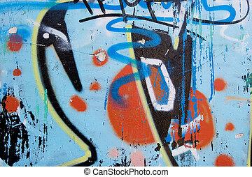 abstrakt, graffiti, bakgrund