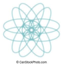 abstrakt, grafik, atom