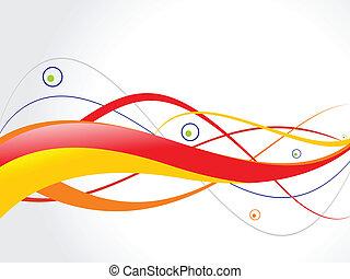 abstrakt, grunge, farverig, bølge