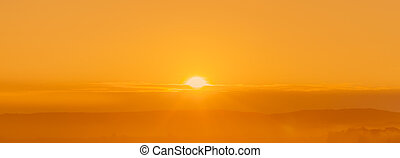 abstrakt, gylden, solopgang
