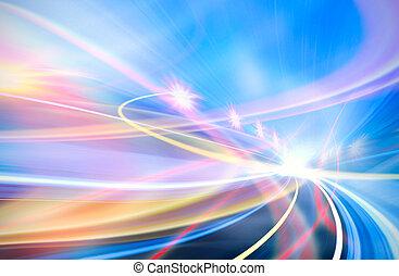 abstrakt, hastighed, afføringen