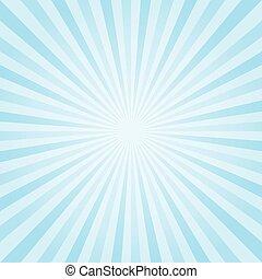 abstrakt, hellblau, strahlen, hintergrund., vektor