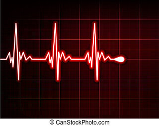 abstrakt, herz, schläge, cardiogram., eps, 8