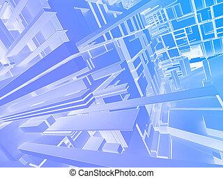 abstrakt, hintergrund, 3d