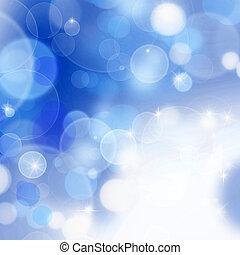 abstrakt, hintergrund, blaues, bokeh
