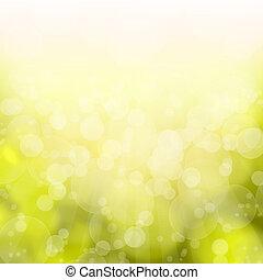 abstrakt, hintergrund, bokeh, gelbes licht