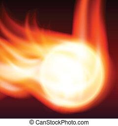 abstrakt, hintergrund, feuerflammen