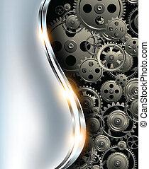 abstrakt, hintergrund, metallisch