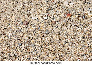 abstrakt, hintergrund, mit, bunte, steine, strand