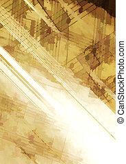 abstrakt, hintergrund, mit, musikalisches, symbole